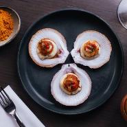 Savory scallops Tonka restaurant