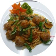 Pasta meat balls